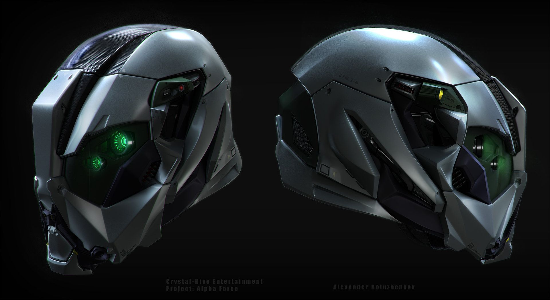 ArtStation - Alpha-force operative helmet, Alexander Boluzhenkov