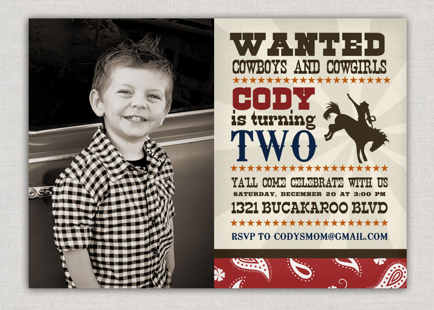 Cowboy party invitation ideas - Find This Pin And More On Bday Ideas Cowboy Birthday Invitation