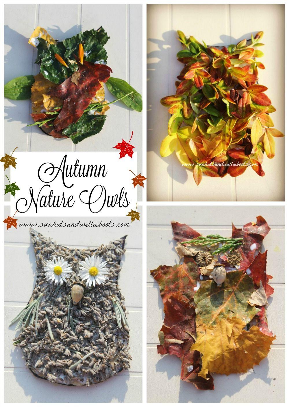 Sun Hats & Wellie Boots: Nature Art Autumn Owls