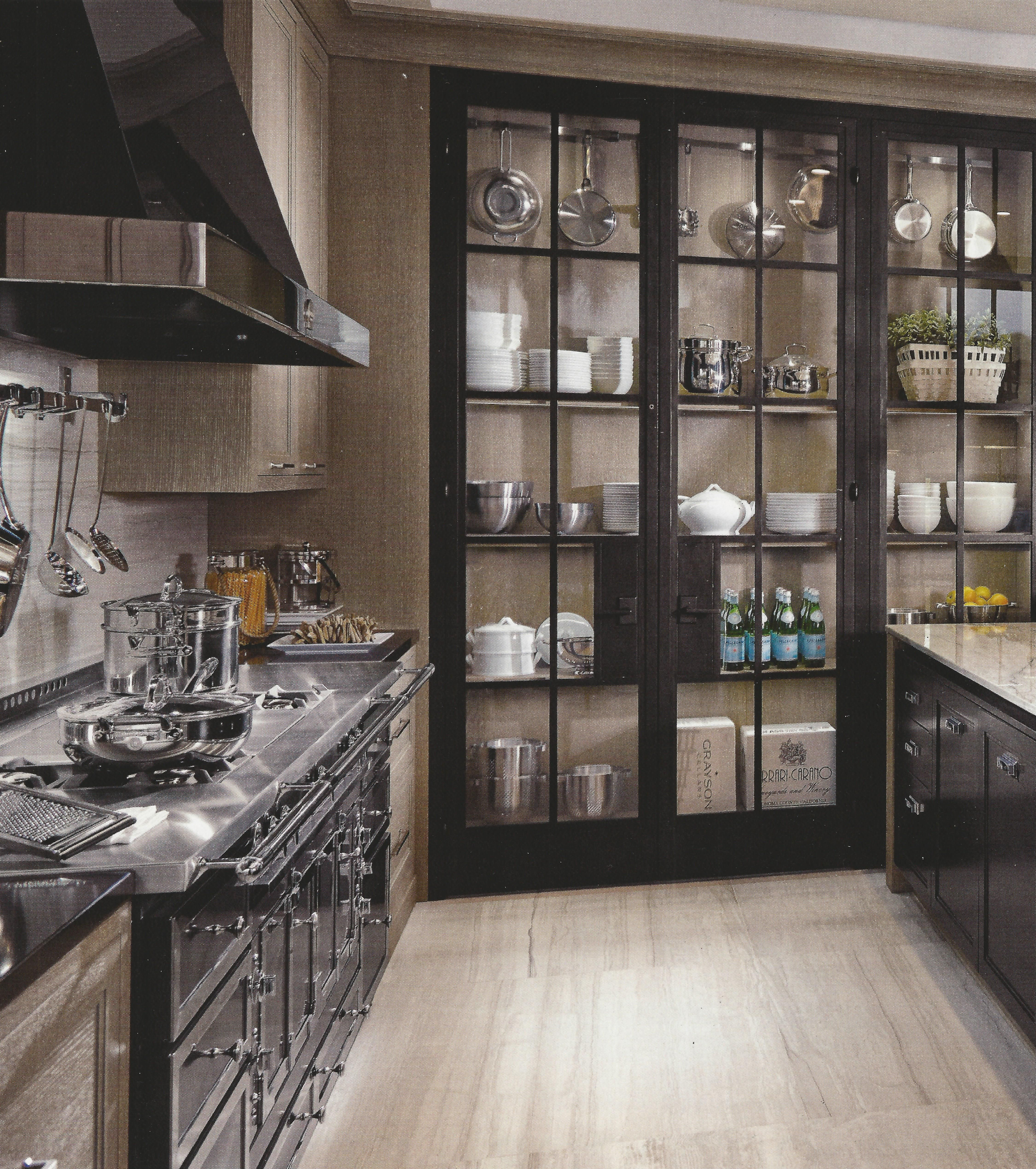 Photo of kitchen pantry with French doors…