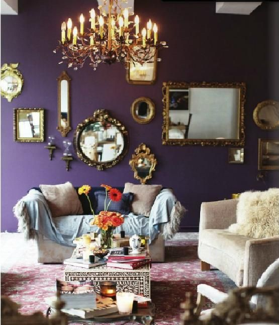baroque mirrorsjust add spray paint for a dash of color and an - Interior Design Living Room Color