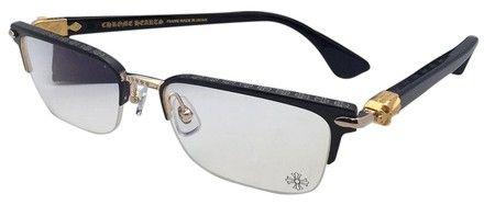 Chrome Hearts CHROME HEARTS Eyeglasses SUGAR WALLS MBK/GP-BK-P 54-19 Black & Gold
