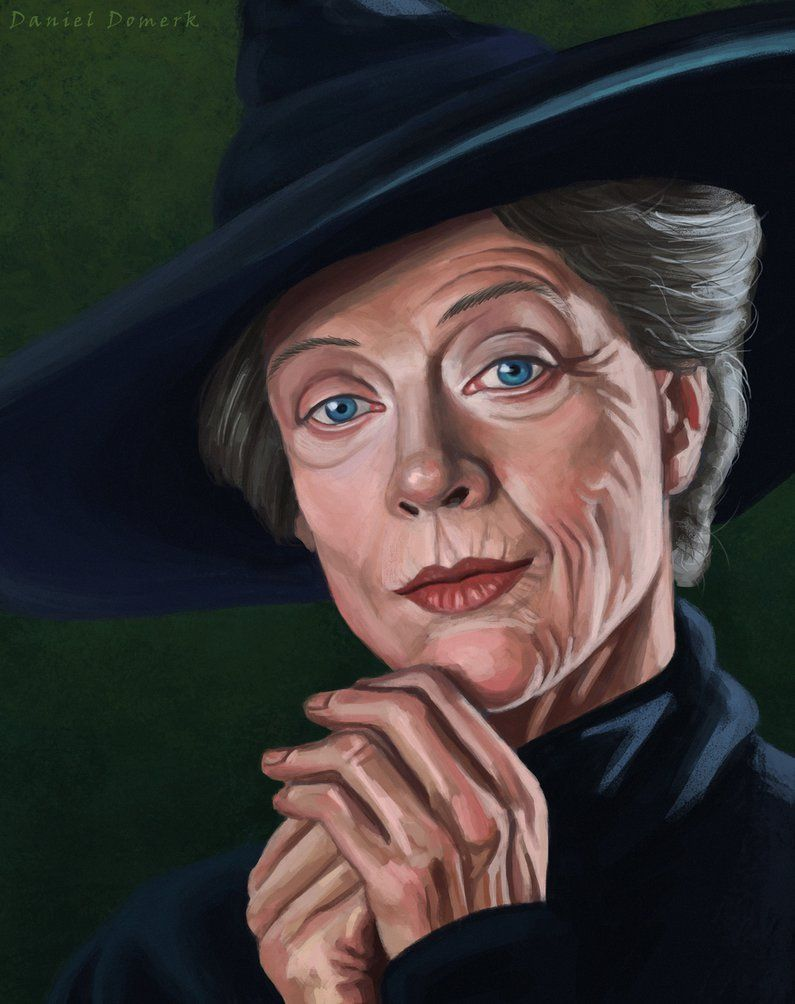 Minerva Mcgonagall By Daniel Domerk C 2017 Harry Potter Portraits Harry Potter Artwork Harry Potter Drawings
