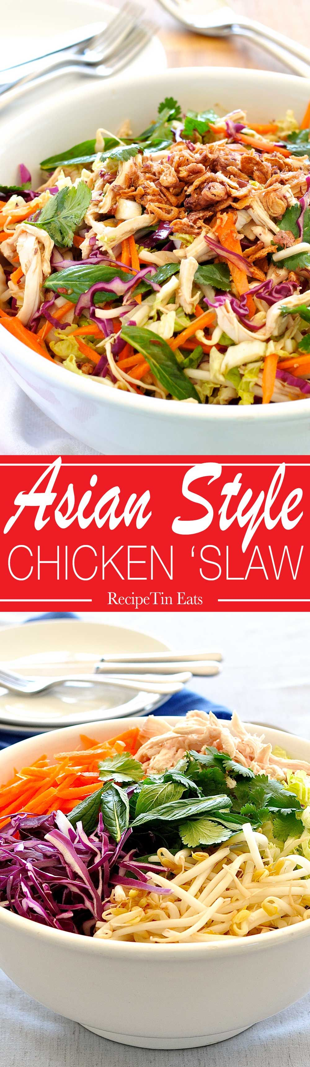 Asian Slaw Healthy Crunchy Asian Cabbage Salad Recipe Asian Chicken Salads Asian Slaw Asian Slaw Healthy