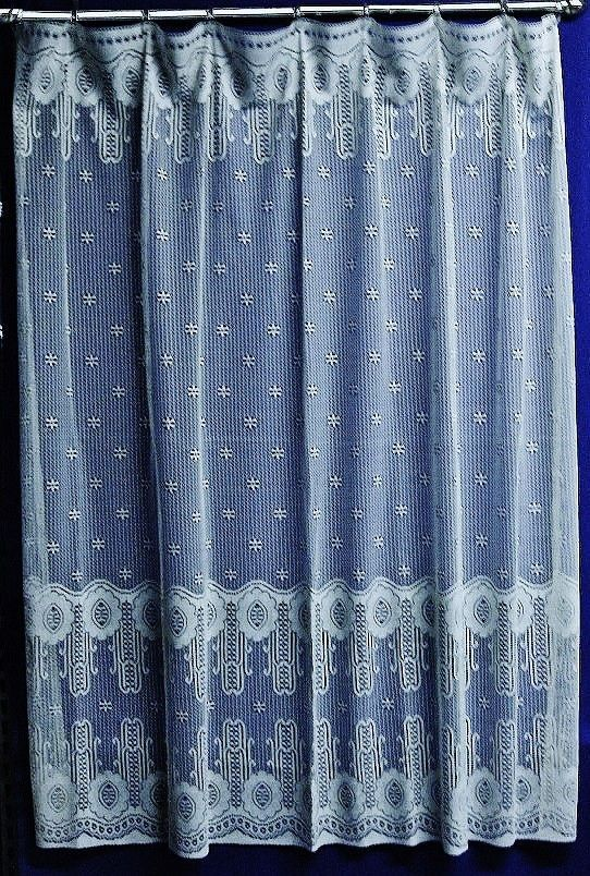 Stunning White Twilight 72 X Lace Shower Curtain Made In USA