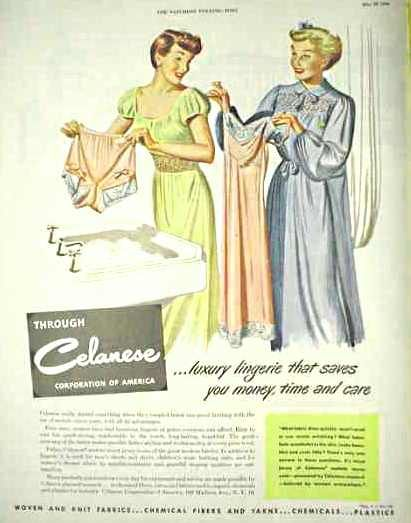 d355e9f2d Celanese 1950′s luxury Lingerie and Nightgowns