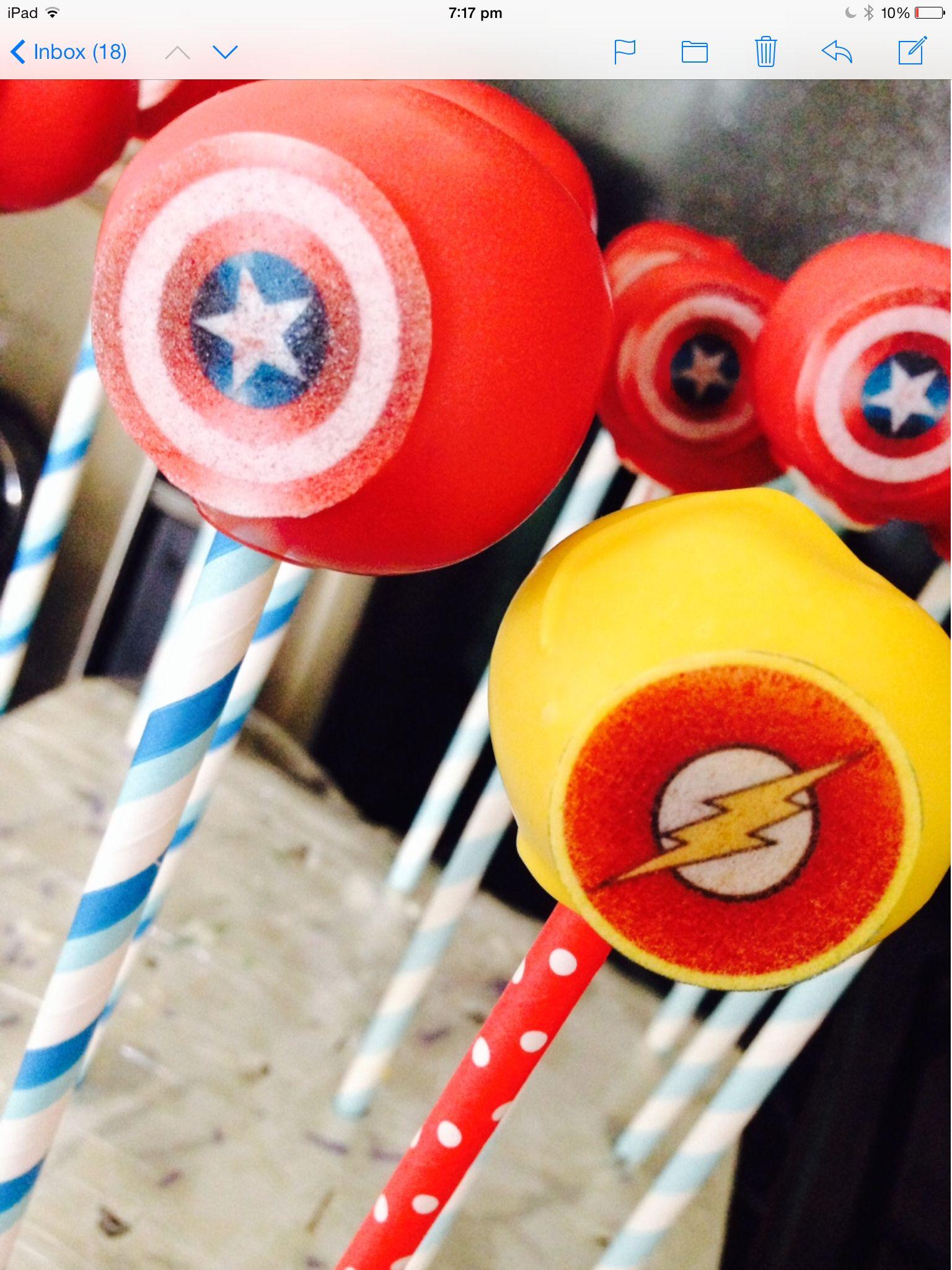 Captain america flash cake pops captain america cake