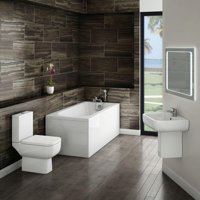 schwarze fliesen badewanne in der ecke spiegel mit led beleuchtung badfliesen ideen glitzer bodenfliesen