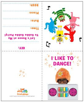 free printable yo gabba gabba birthday party invitations | yo, Wedding invitations