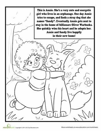 Annie The Musical Coloring Pages Check more at https://www