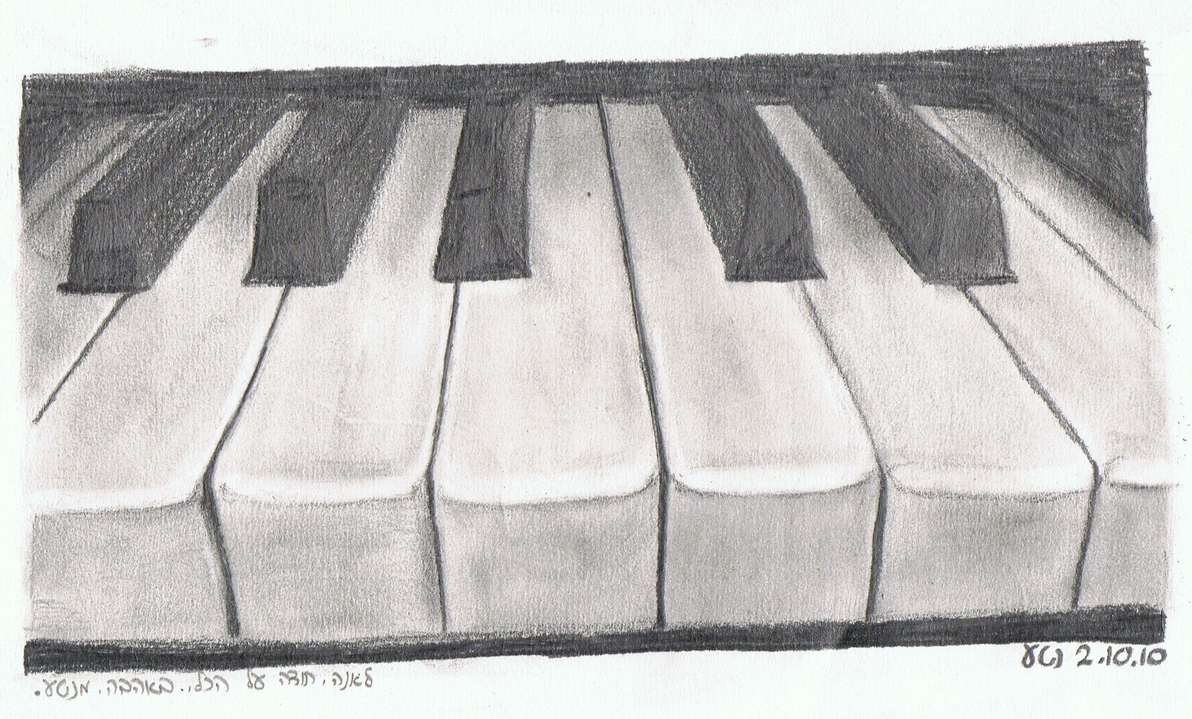 Drawing of a Piano | Dibuix | Drawings, Pencil drawings, Art