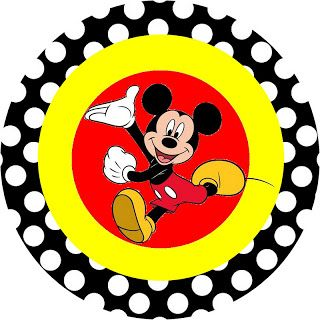 inspired in mickey mouse free party printables in red and black