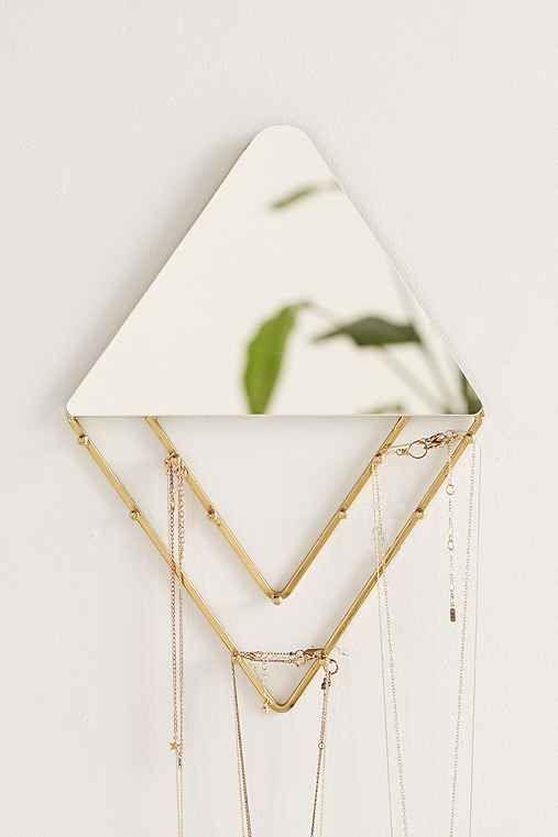 Alexia Line Jewelry Storage Hanging Mirror Hanging mirrors