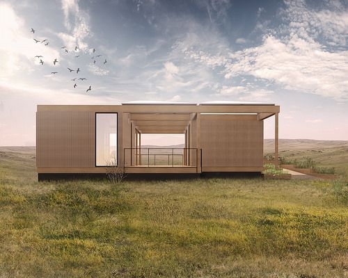 Texas/Germany Solar Decathlon 2015 House Rendering: North Elevation