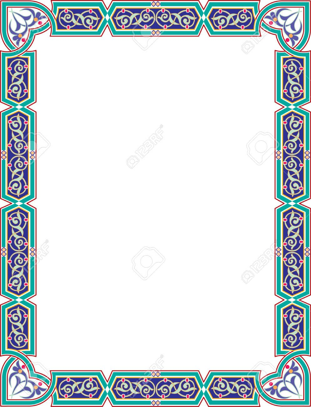 23185793 islamic style border frame with elegant vector for Exclusive bordering
