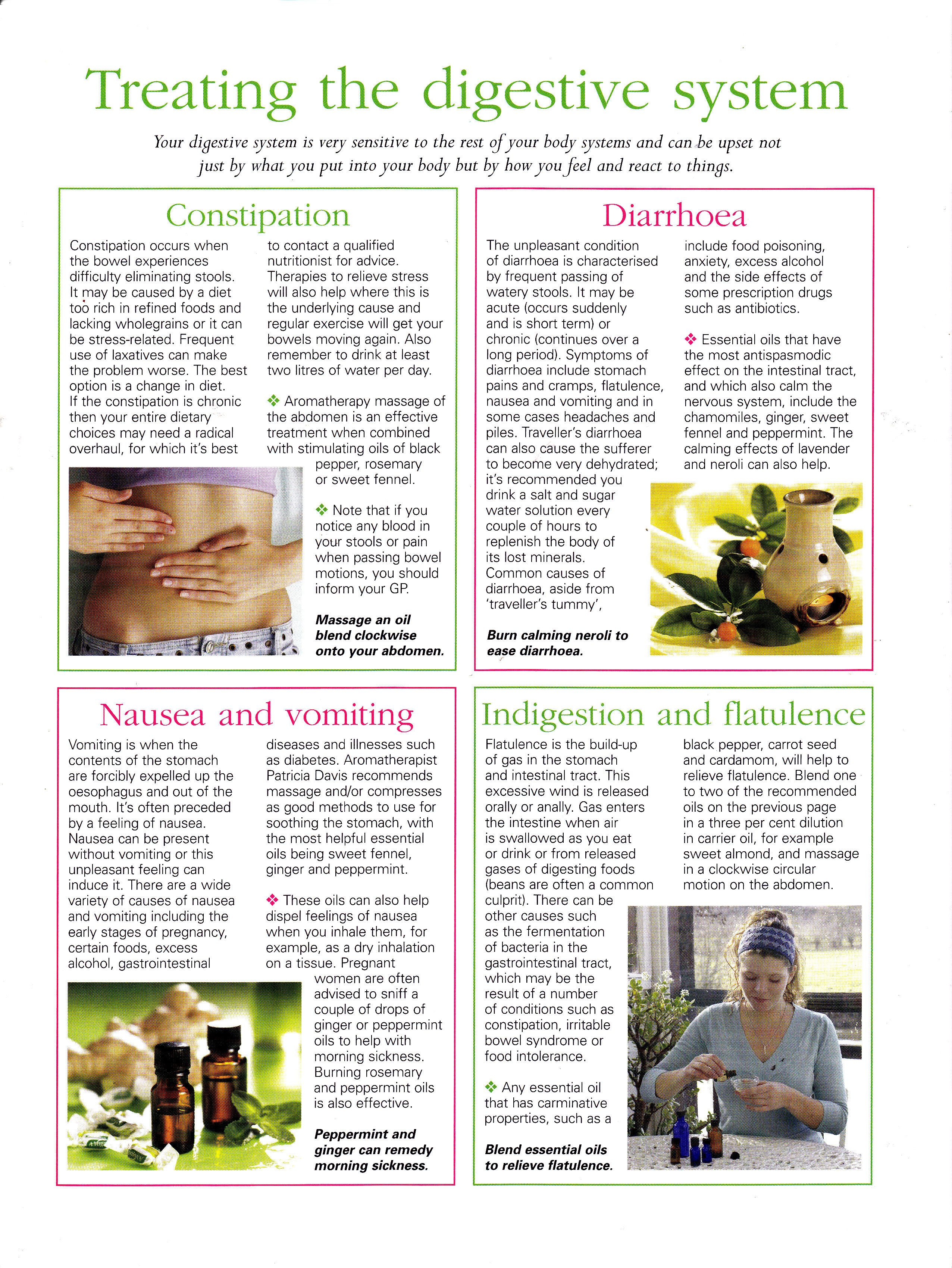 The digestive system and essential oils  Constipation