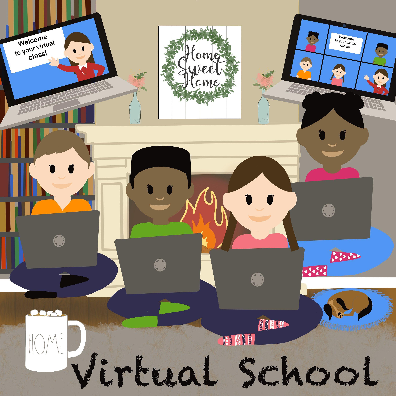 Virtual School Distance Learning Zoom Virtual Classroom