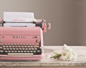 Typewriter On Etsy A Global Handmade And Vintage Marketplace Pastel Pink Aesthetic Pink Photography Pink Aesthetic
