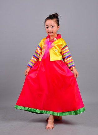 24810dc14 National Photographic hanbok dress child Korean girls dance clothing ...