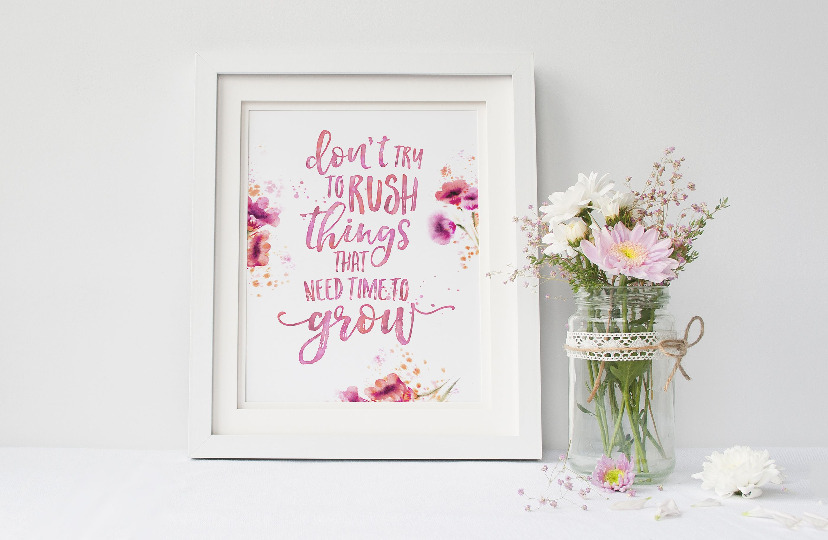 Hello Sunshine Font Duo by Nicky Laatz on Creative Market on the floral mock up by White Hart Design Co.