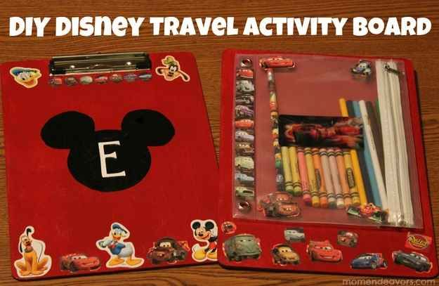 Make special activity clipboards for the car ride.