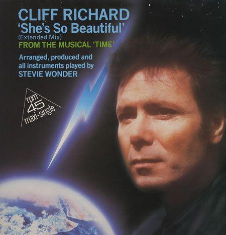 "Cliff Richard, She's So Beautiful, European, Deleted, 12"" vinyl single (12 inch record / Maxi-single), E.M.I., 2007996, 15788"