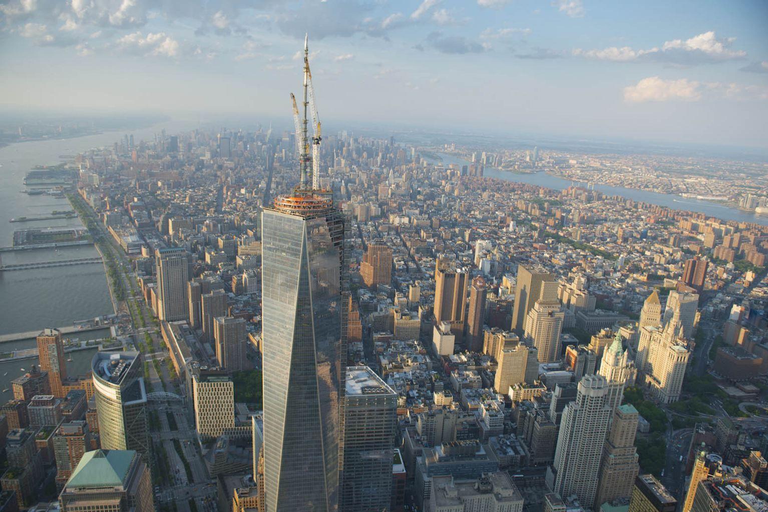 Hasil gambar untuk one world trade center bird view
