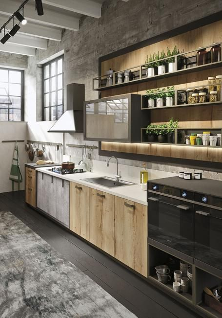 beautiful modern kitchens. Beautiful Modern Ideas For Kitchen Design In Industrial Style Kitchens