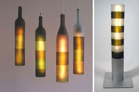 designerlampen 25 originelle lichtideen zum selber bauen recycling ideas make new from old. Black Bedroom Furniture Sets. Home Design Ideas
