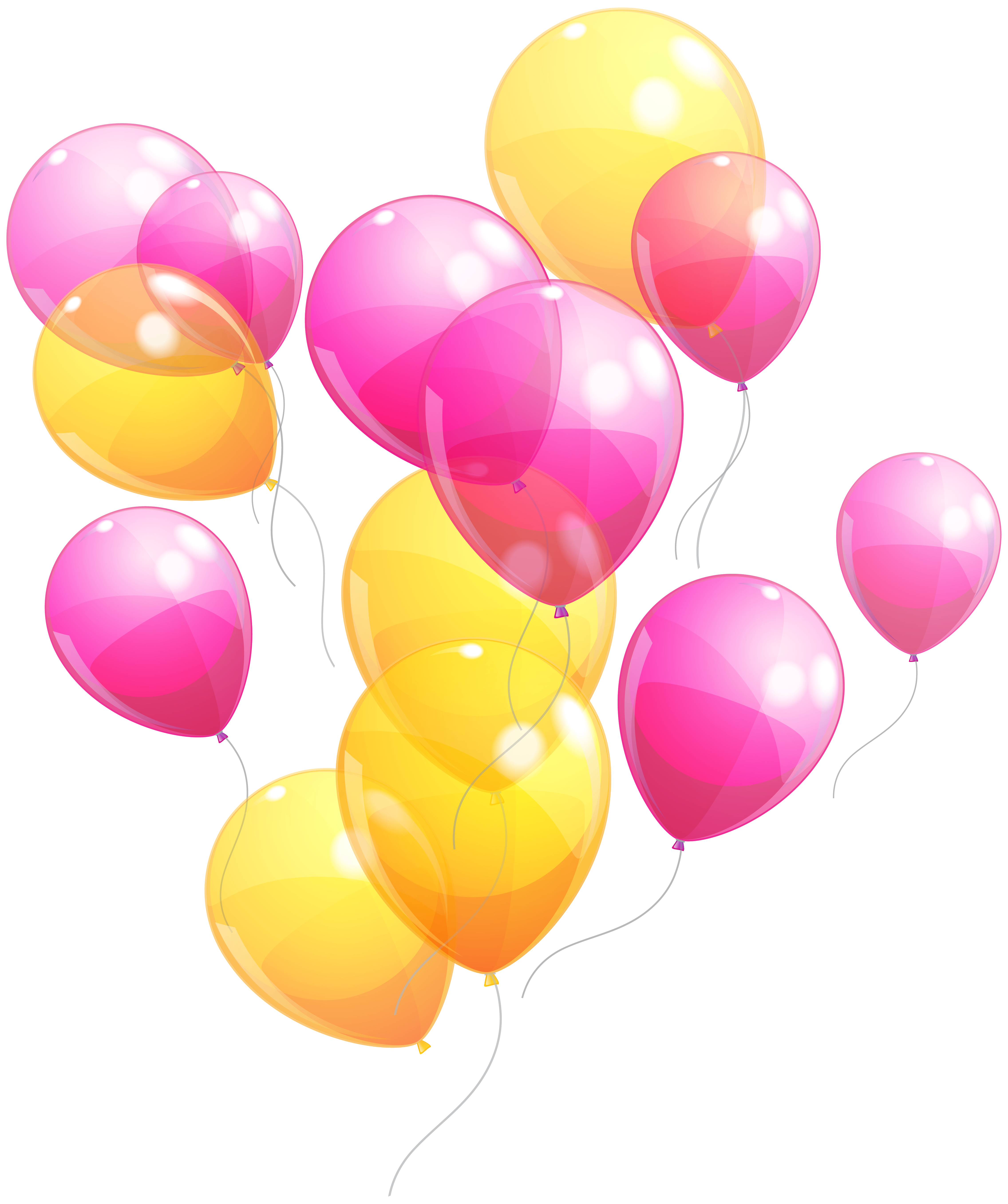 Pink And Yellow Balloons Bunch Png Clipart Image Gallery Yopriceville High Quality Images And Transparent Pn Yellow Balloons Balloons Balloon Illustration