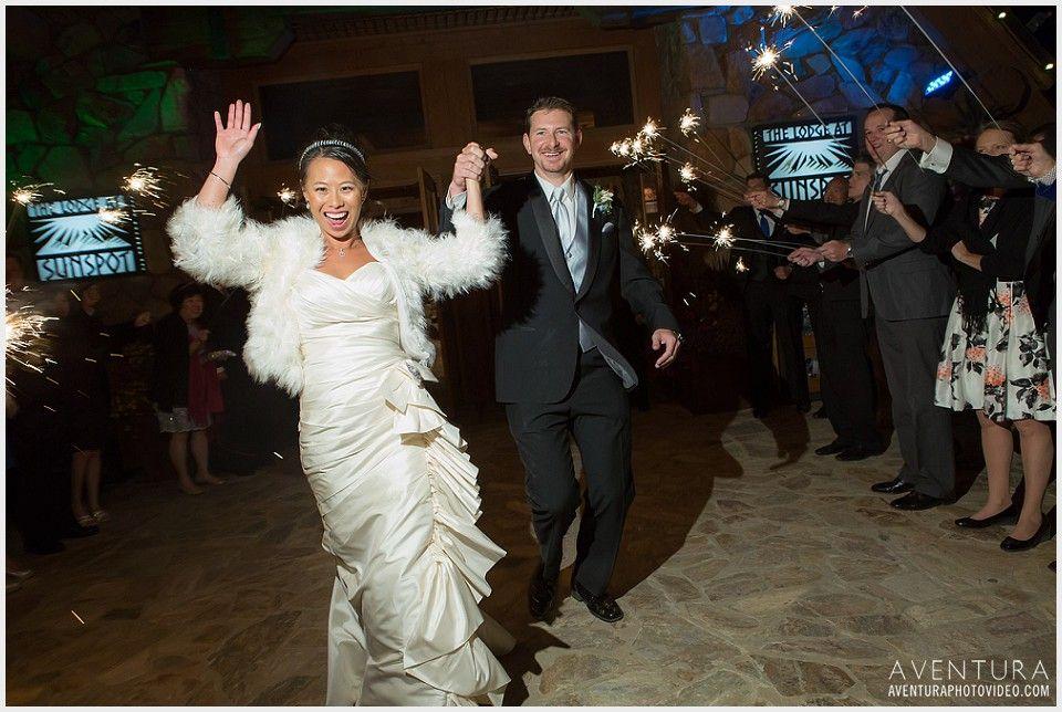 winter park wedding lodge at sunspot sparkler exit