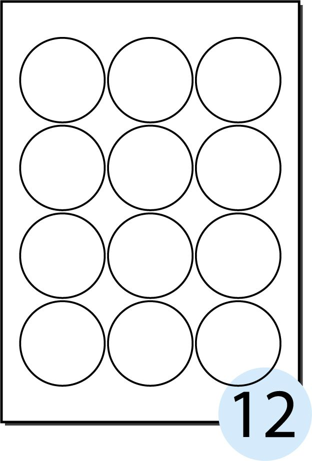 Mm Blank Label  Circular Printable Label  Free Mm Adhesive