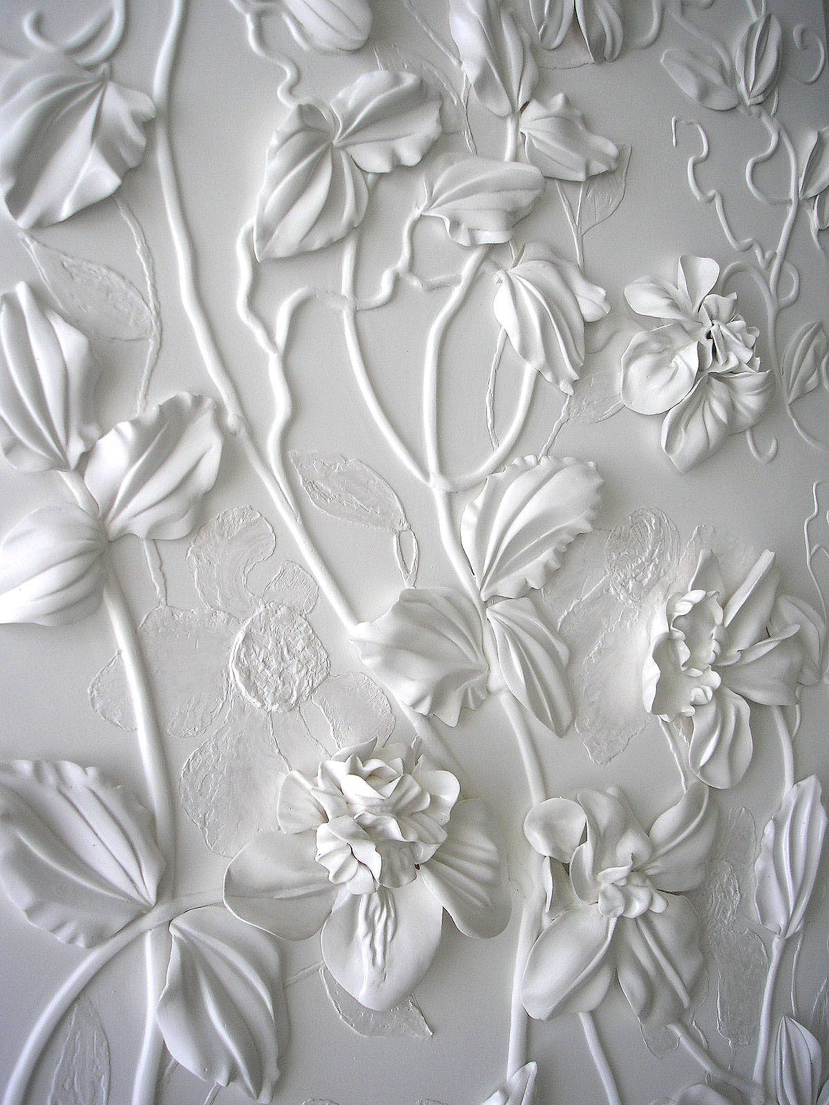White panno on Behance Floral wallpaper, Flower wall art