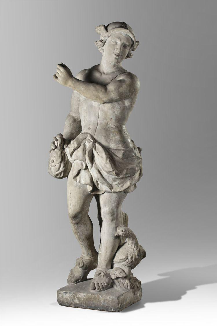 Mercury, Garden Statue, Early 18th Century, Holland, Sculpture, Follower  Van Logteren