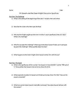 My Hobby Essay In English I Use These Discussion Questions For Sir Gawain And The Green Knight In  Literature Circles So That Students Are Ready For The Whole Class  Discussion Psychology As A Science Essay also Personal Essay Examples For High School Sir Gawain And The Green Knight Discussion Questions  Reading  How To Write A Essay Proposal