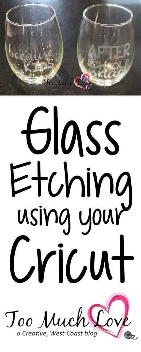 How to do Glass Etching With the Help of Your Cricut #cricutcrafts