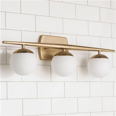 Linear Globe Bath Light - 3 Light | Bath light, Globe and Bath