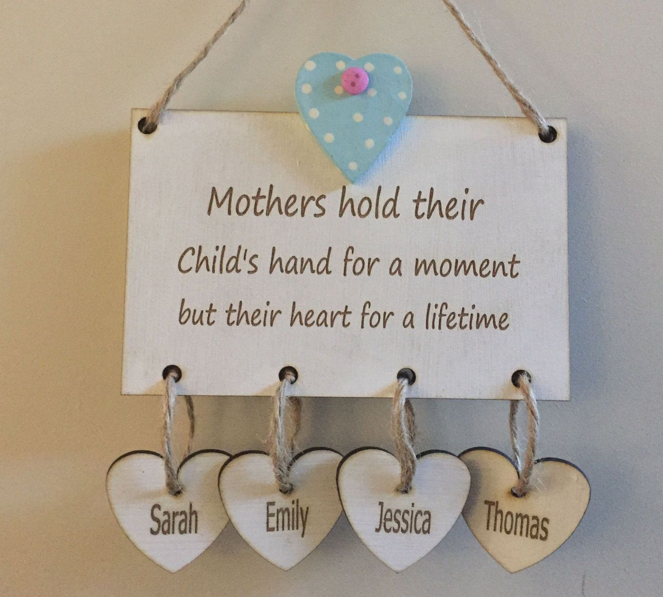 Personalised Mum Plaque Hanging Mother S Day Sign With Up To 4