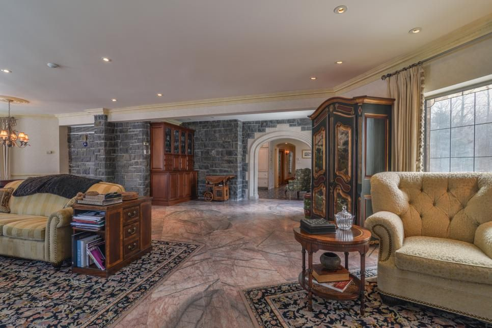Tour a Stone Chateau in Senneville, Quebec, Canada Home