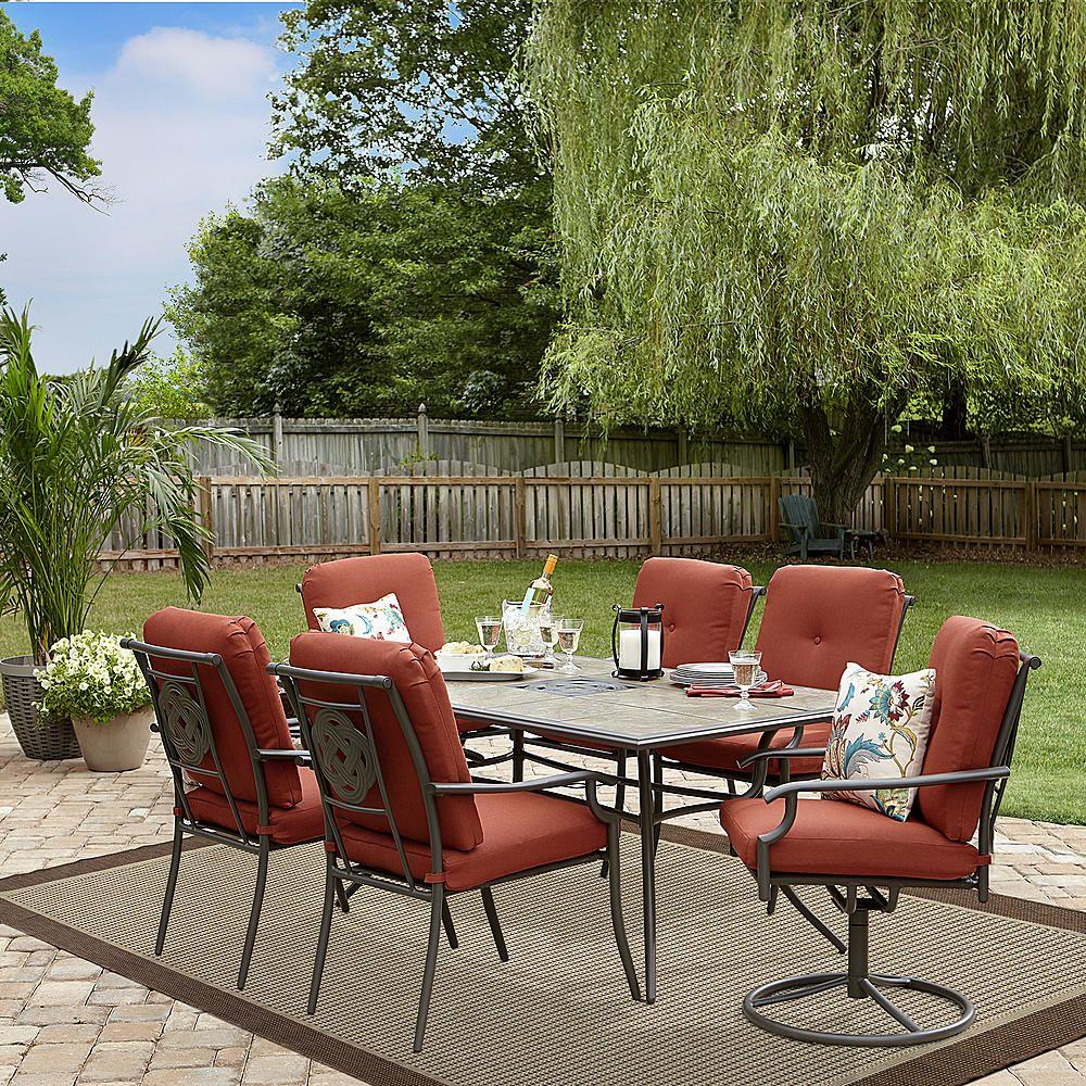 Garden Oasis Brookston 7 Piece Dining Set- Terracotta