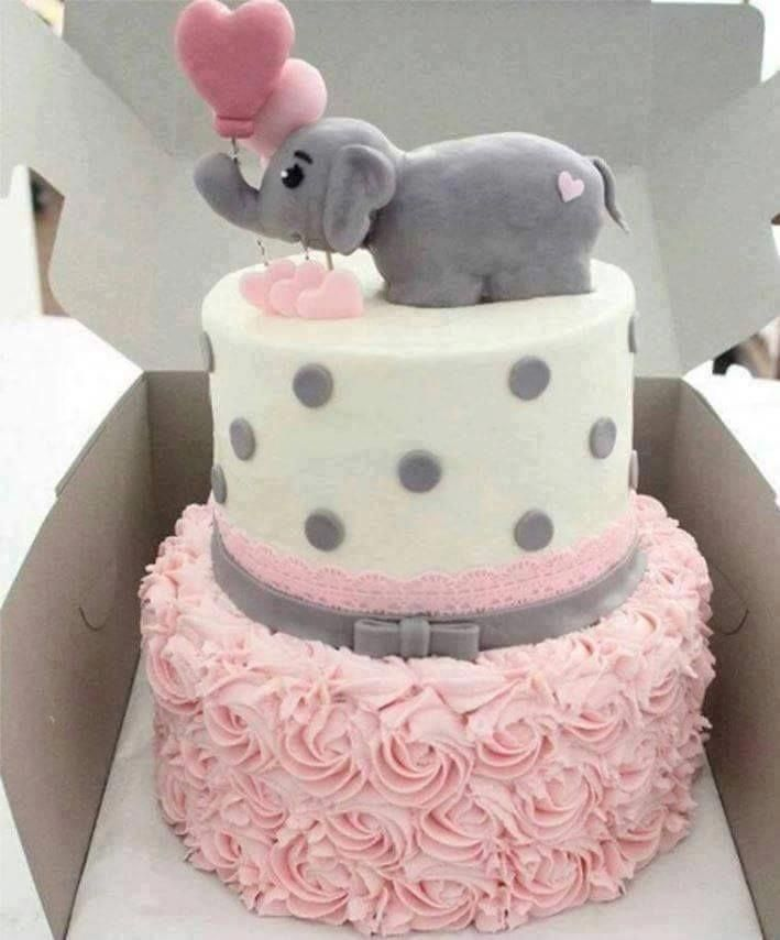 Baby Elephant Baby Shower Cake Shower Cakes Elephant Baby