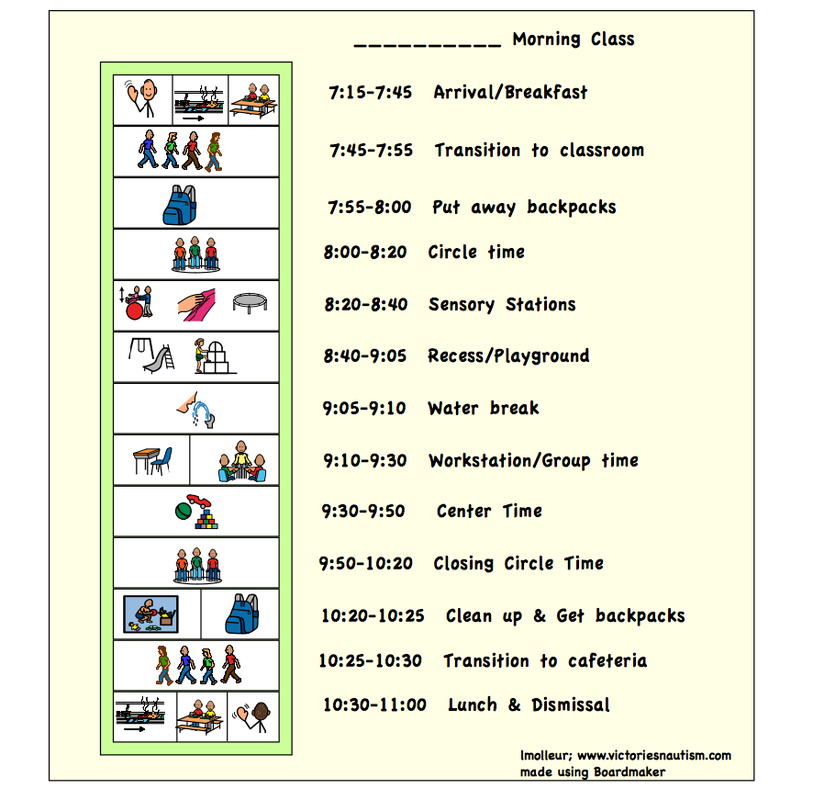 Free Download Visual Schedule  ChartsSchedules  Victories N