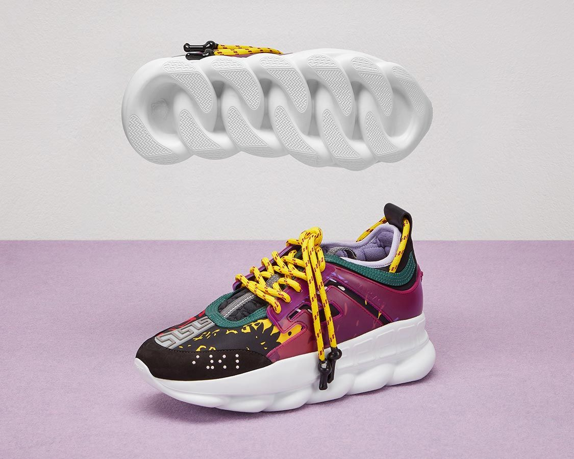 Versace Chain Reaction Designer Sneakers for Men and Women