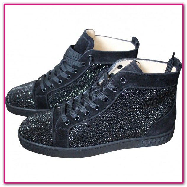 newest 61e08 58ee4 Louboutin Sneaker Damen Schwarz-Kaufen Sie Second-Hand ...