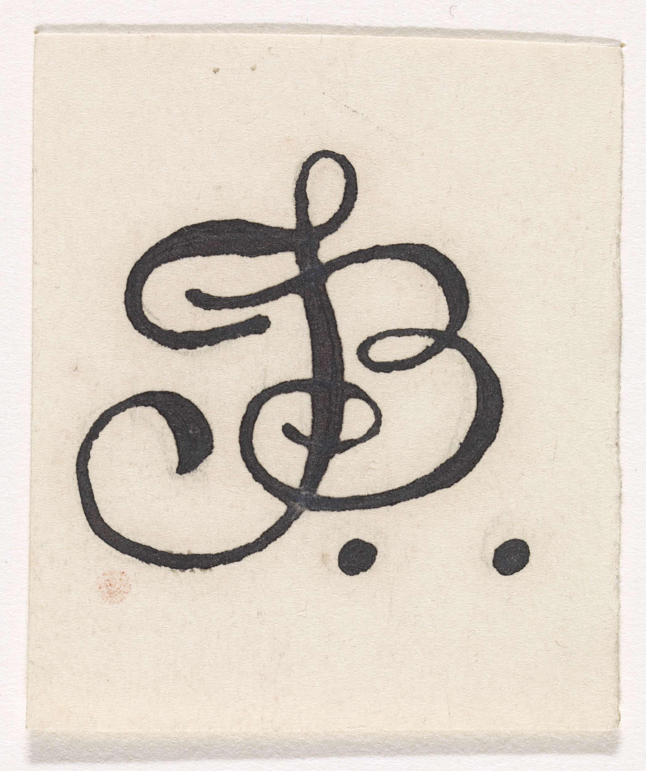 Letter B Print Alfabet Kalligrafie Typografie Monogram Bloemen