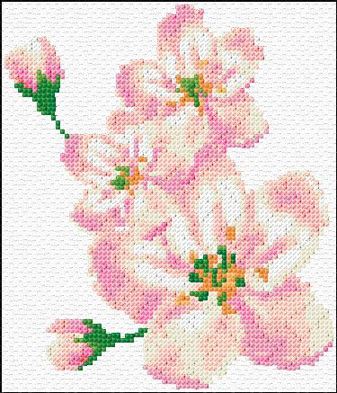 Cross stitch blossom xstitch chart design also projects to try flowers rh pinterest