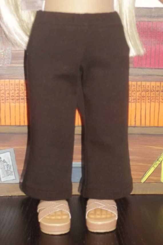 Chocolate Brown Stretch Twill Pants by GomunkCreations on Etsy, $9.00