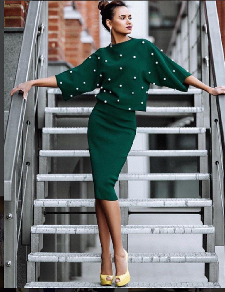9731498149bb1c6 Платья В Горошек · Ретро Мода, Офисная Мода, Модный Дизайн, Женская Мода,  Осенняя Мода, Винтажная