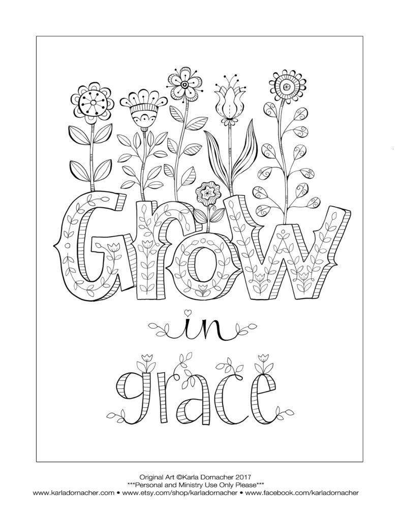Growing In Grace In 2020 Fall Coloring Pages Coloring Pages Grow In Grace
