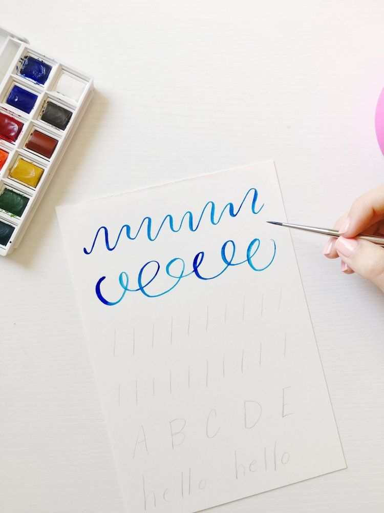 Watercolor Lettering Getting Started Tutorial KILEY IN KENTUCKY